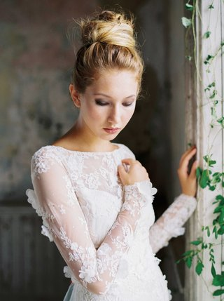 romantique-by-claire-pettibone-long-sleeve-wedding-dress-with-flower-petals-on-sleeves