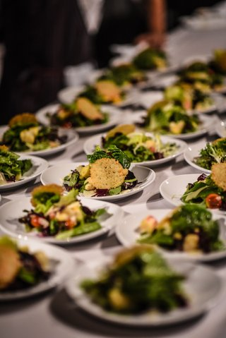 wedding-salad-with-mixed-greens-hearts-of-palm-and-parmesan-frico
