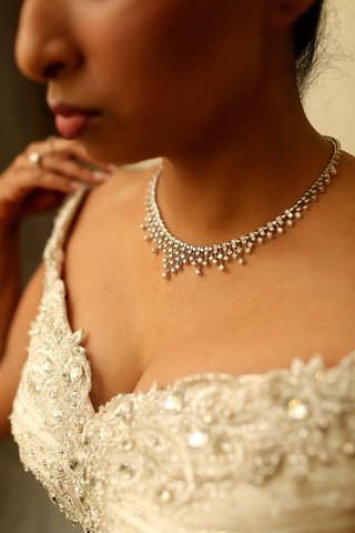indian-bride-wearing-gown-and-diamond-necklace