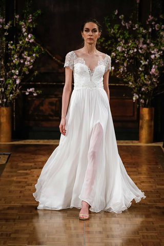 isabelle-armstrong-spring-2017-kaitlyn-short-sleeve-wedding-dress-with-chiffon-skirt-and-sheer-slit
