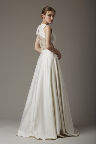 lela-rose-green-gable-satin-wedding-dress-with-an-embroidered-back-cutout