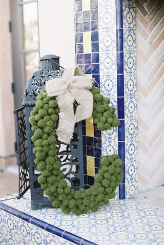 wedding-monogram-made-with-greenery-and-rustic-burlap