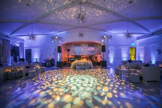 wedding-after-party-light-projections-on-dance-floor-purple-lighting-lounge-furniture-live-band