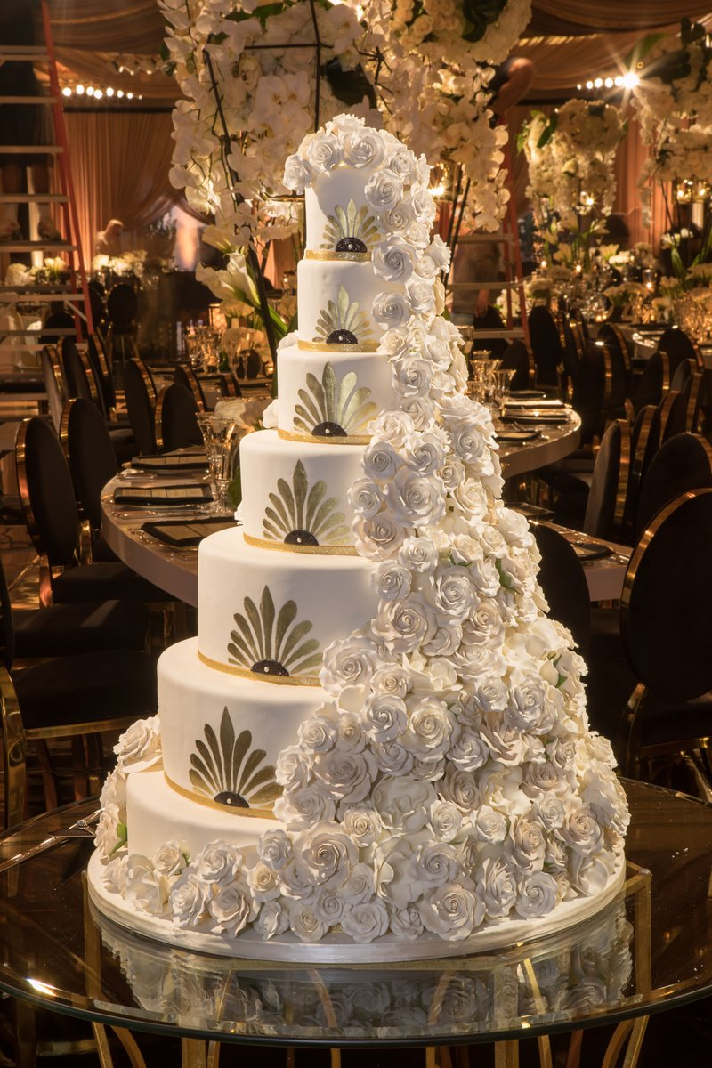 Art Deco-Inspired Wedding Cake