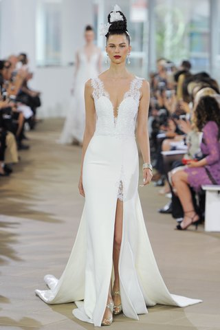 ines-di-santo-spring-2018-sleeveless-plunging-illusion-sheath-gown-slit-lace-insert-detachable-train