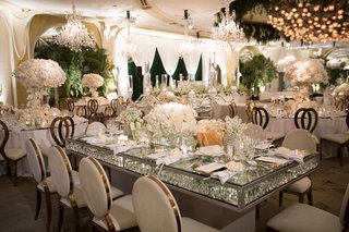 rectangle-revelry-event-designers-table-rose-gold-velvet-guest-chairs-drop-crystal-table