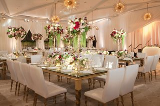 wedding-reception-at-hotel-bel-air-with-mid-century-modern-lighting-chandeliers-white-chairs