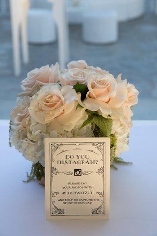 vintage-wedding-sign-with-instagram-wedding-hashtag