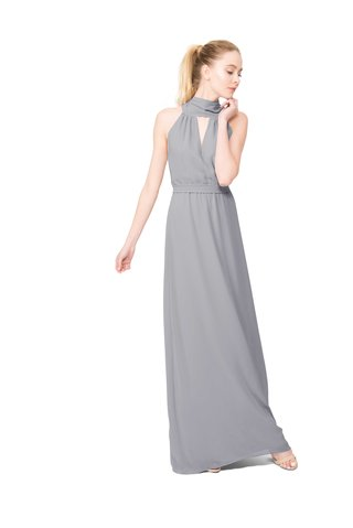 joanna-august-riggs-long-bridesmaid-dress-with-high-neck-sleeveless-in-light-grey