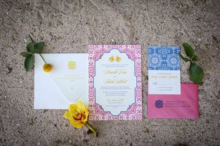 pink-blue-yellow-white-invitation-suite-punta-mita-mexico-destination-wedding-styled-shoot-patterns