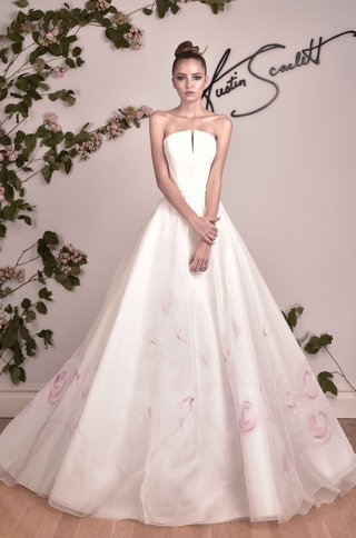 austin-scarlett-fall-2016-hand-painted-pink-flower-print-ball-gown-with-no-straps