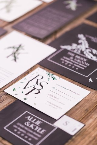 black-capitalized-invites-with-white-response-cards
