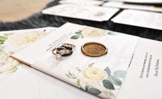 oval-engagement-ring-two-tone-mens-band-wax-seal-flower-print-belly-band-envelope-liner