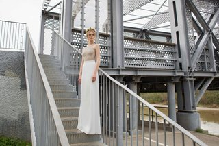 limor-rosen-2017-lauren-wedding-dress-high-neck-sleeveless-top-with-crepe-georgette-skirt