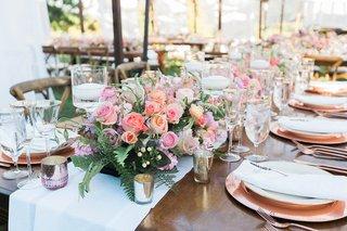 pitch-perfect-stars-anna-camp-skylar-astin-wedding-low-blush-lavender-floral-table-runner-votives