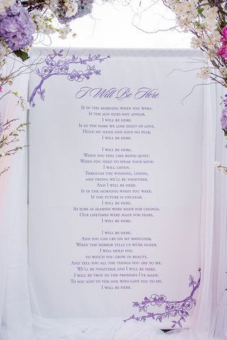 i-will-be-here-love-poem-printed-in-purple-behind-altar