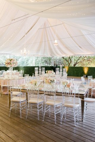 calamigos-ranch-tented-wedding-reception-draped-fabric-with-twinkle-lights-boxwood-hedges
