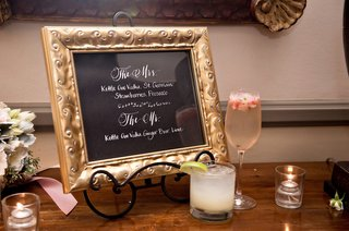 orant-gold-frame-signature-drink-menu-wedding-cocktail-hour