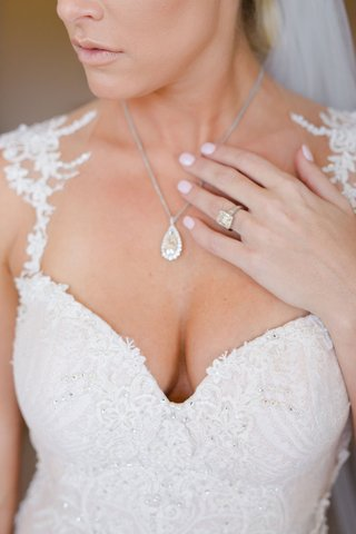 barbie-blank-in-galia-lahav-wedding-dress-with-teardrop-diamond-necklace-and-large-engagement-ring
