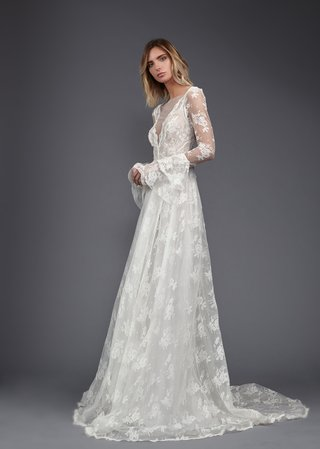 victoria-kyriakides-spring-2017-june-lace-wedding-dress-lantern-sleeves-sheer-v-neck-sheer-sleeves