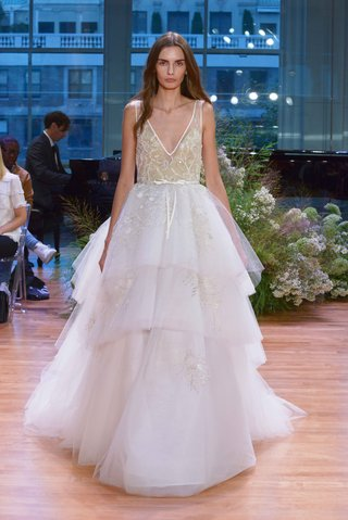 monique-lhuillier-fall-2017-bridal-collection-carnegie-wedding-dress-layer-tulle-ball-town-flowers