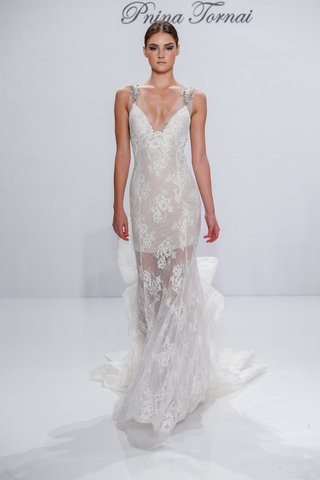 pnina-tornai-for-kleinfeld-2017-dimensions-collection-sheer-lace-wedding-dress-beading-on-straps