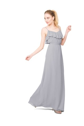 joanna-august-shuana-long-bridesmaid-dress-with-thin-straps-ruffle-neckline-in-light-grey
