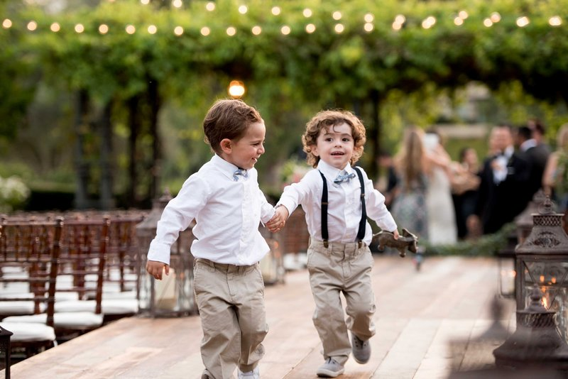 Ring Bearers Play Together