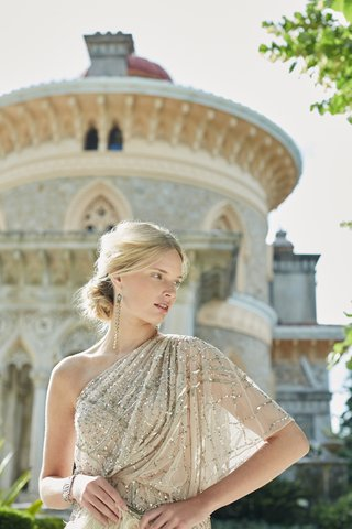 one-shoulder-adrianna-papell-champagne-wedding-dress
