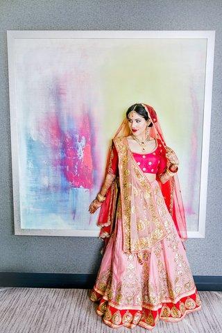 indian-american-bride-in-lehenga