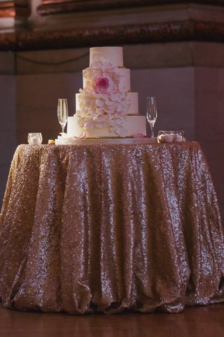 four-layer-round-wedding-cake-with-sugar-rose