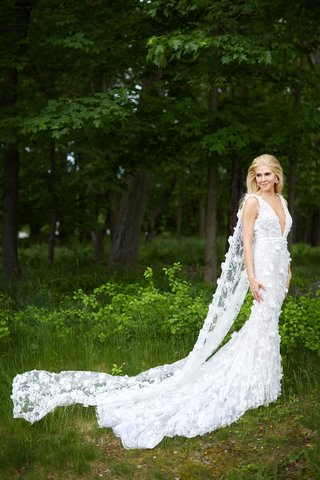 wedding-dress-by-marchesa-flower-applique-mermaid-silhouette-train-long-cathedral-cape-instead-veil