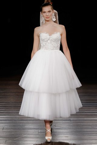 naeem-khan-bridal-spring-2017-bali-strapless-tea-length-wedding-dress-tier-layer-tulle-skirt