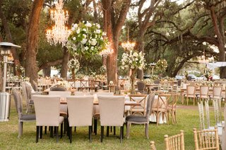 wedding-reception-on-grass-lawn-among-trees-in-texas-planned-by-ann-whittington-rustic-chic
