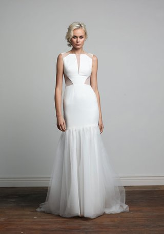 joy-collection-barbara-kavchok-spring-2018-kendall-high-neck-crepe-wedding-dress-sheer-cutouts