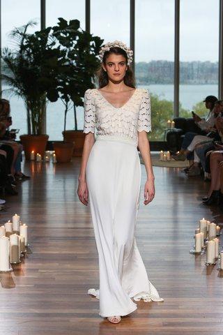 laure-de-sagazan-fall-2018-scalloped-bodice-with-half-sleeves-and-sheath-skirt
