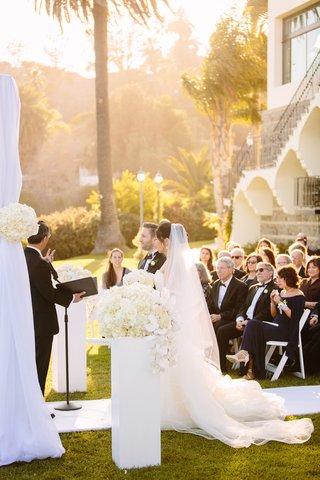 interfaith-ceremony-veil-white-chuppah-bel-air-bay-club-wedding-ceremony-white-flowers