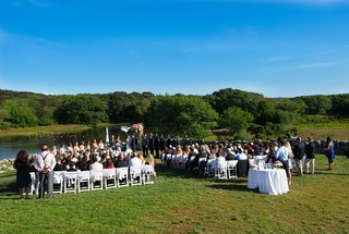 marthas-vineyard-lake-ceremony-with-trees-and-simple-decor