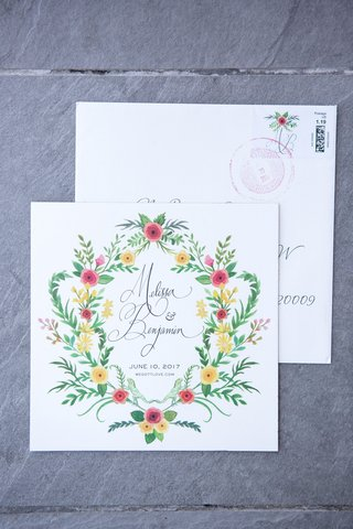 wedding-save-the-date-pink-yellow-green-flower-design-cursive-website