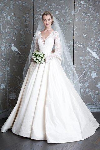 princess-grace-of-monaco-spring-2019-legends-romona-keveza-long-lace-sleeves-v-neck-ballgown