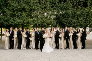 bride-in-inbal-dror-bridesmaids-in-champagne-off-the-shoulder-jenny-yoo