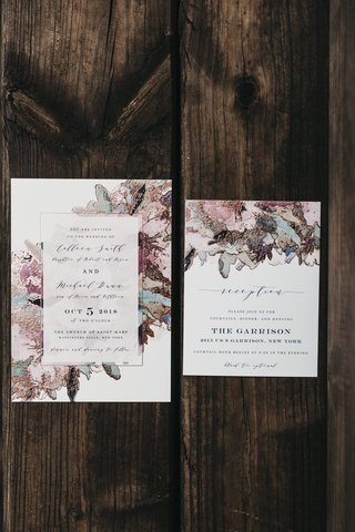 wedding-invitations-from-minted-in-modern-floral-design-in-moody-hues-and-gold-specks