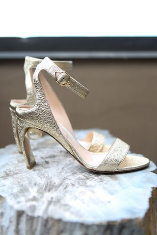 wedding shoes silver gold high heels ankle strap sandals toe strap