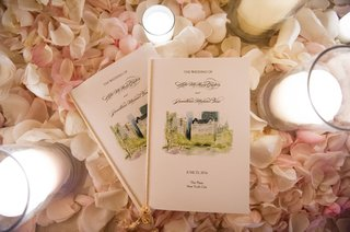 wedding-ceremony-program-with-watercolor-design-of-new-york-city