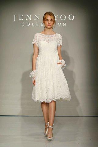 jenny-yoo-bridal-2016-short-sleeve-lace-short-wedding-dress