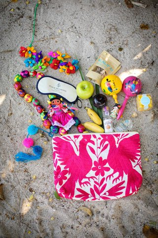 colorful-gift-bags-destination-styled-shoot-punta-mita-mexico-wedding-four-seasons-knick-knacks