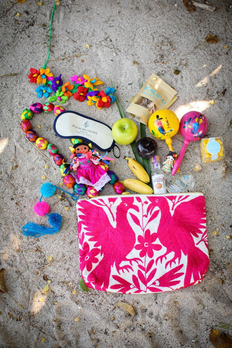 Colorful Gift Bags for Destination Styled Shoot