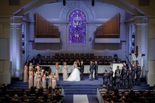 presbyterian-church-wedding-with-stained-glass-window-and-organ-pipes