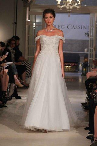 oleg-cassini-spring-2016-off-the-shoulder-wedding-dress