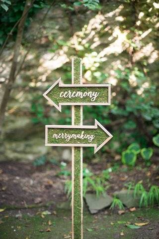 moss-signage-wood-calligraphy-ceremony-reception-celtic-wedding